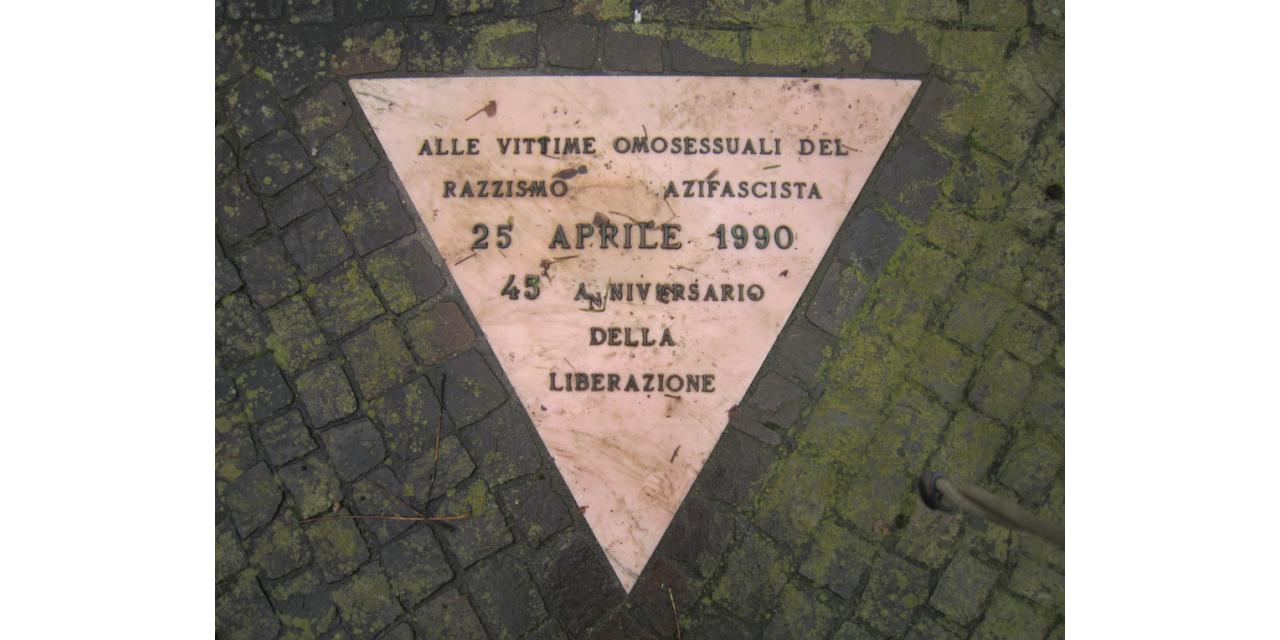 Omaggio alle vittime omosessuali del razzismo nazifascista 2010